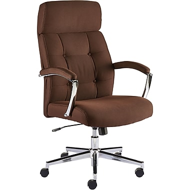 Staples Townsen Fabric Home Office Chair Brown