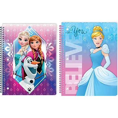 Innovative Designs LLC, Assorted Girls Theme Notebook : Frozen, Princesses, Each (9659 MX ST)