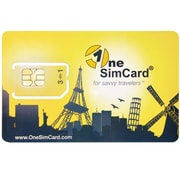 OneSimCard PLUS International Roaming SIM card for use in over 200 Countries. Works in Unlocked GSM devices. Includes $5 balance