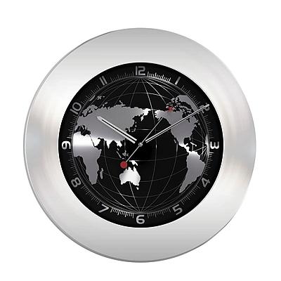 La Crosse TFA 60.3006 Stainless Steel Silent Sweep Wall World Clock 2424703