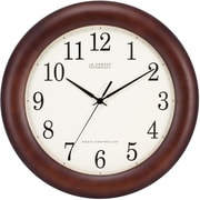 La Crosse Technology WT-3122A 12.5 Inch Cherry Wood Atomic Analog Clock