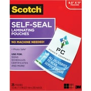 Scotch Self-Adhesive Laminating Pouches, 9.5 mil., Letter Size, 25 Pack