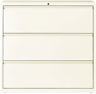 Lorell 3 Drawer Lateral File Cabinet, Cloud, Letter/Legal, 42