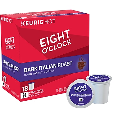 Eight O'Clock® Dark Italian, Regular Keurig® K-Cup® Pods, 18 Count