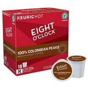 Keurig® K-Cup® Pods Eight O'Clock 100% Colombian Coffee, Regular, 18/Pack