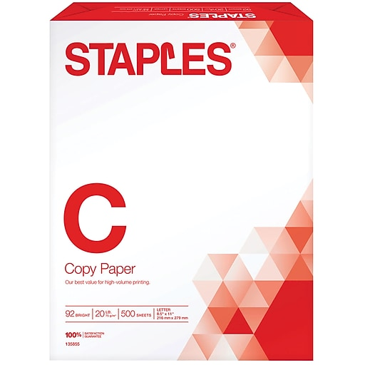 Staples copy paper 8 12 x 11 500ream 135855135855wh staples httpsstaples 3ps7is malvernweather Choice Image