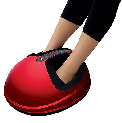 uComfy Shiatsu Foot Massager With Heat 2.0, Red (9835)