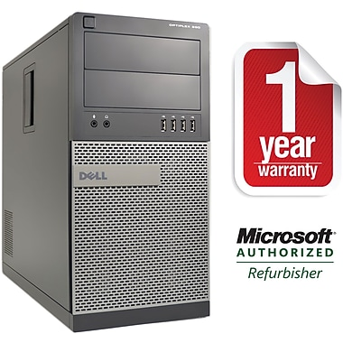 Refurbished Dell 990 Tower Core i5 3.1Ghz 8GB RAM 2TB HDD Windows 10 Pro