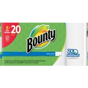 Bounty® Select-A-Size™ Paper Towels, White, 8 Huge Rolls = 20 Regular Rolls