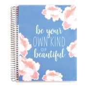 "Erin Condren Coiled Notebook Be Your Own Kind of Beautiful, 7"" x 9"" college ruled (2425455)"