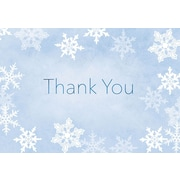 "Great Papers! Merry Snowflake Thank You Note Card, 4.875"" x 3.375"", 50 note cards and 50 envelopes"
