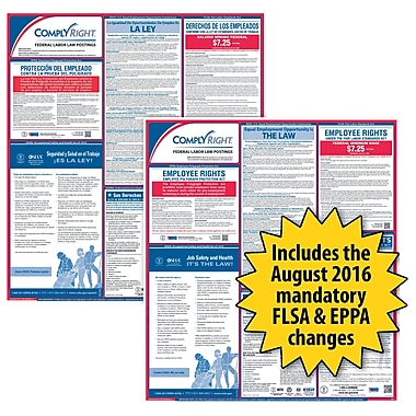 ComplyRight Federal Labor Law Poster, Bilingual