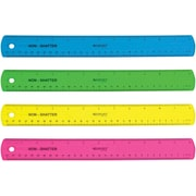"Westcott® Shatterproof 12"" Ruler, Assorted Translucent Colors (14381)"