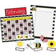 Barker Creek Buffalo Plaid Calendar and Incentive Chart Set