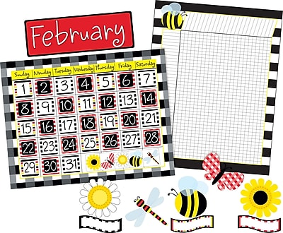 Barker Creek Buffalo Plaid Calendar and Incentive Chart Set