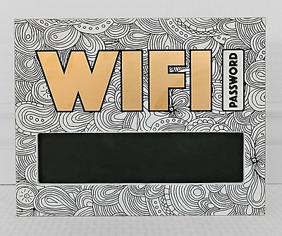 Adams & Co. Adult Coloring Wifi Chalkboard Sign 11