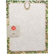 """Gartner Studios, Holly Wreath with Foil Stationery, 8.5"""" x 11"""", 40 Pack  (18683)"""