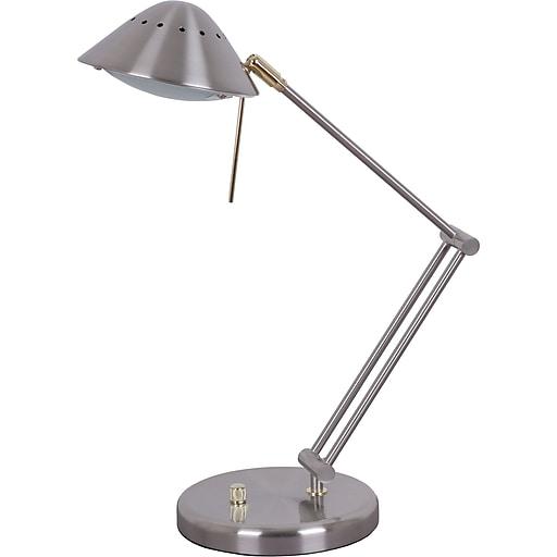 Tensor Halogen Desk Lamp, Brushed Steel | Staples