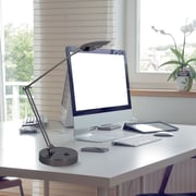 Evolution Lighting Double Reach Swing-Arm LED Desk Lamp, Black Nickel
