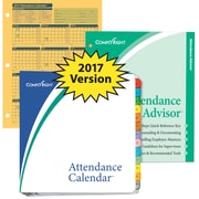 ComplyRight Attendance Calendar Kit, Yellow, Pack of 50