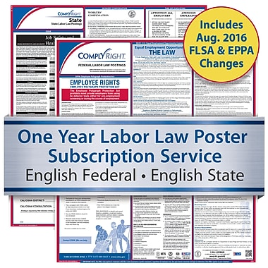 ComplyRight One Year State and Federal Poster Service, South Carolina-- English Federal and English State Posters