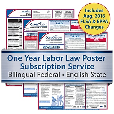 ComplyRight One Year State and Federal Poster Service, New York -- Bilingual Federal and English State Posters