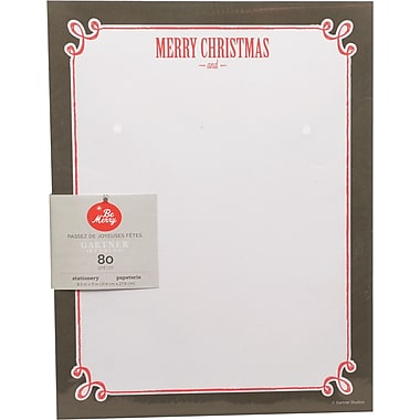 Gartner Studios, Chalk Merry Christmas Stationery, 8.5