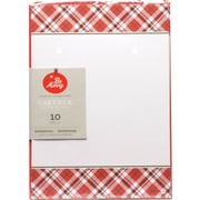 "Gartner Studios, Red Plaid Invitations, 5"" x 7"", 10 Pack (18711)"