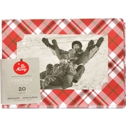 "Gartner Studios, Red Plaid Photocard, 5"" x  7"", 20 Pack (18714)"