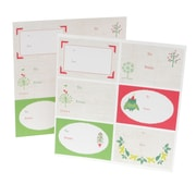 "Mara Mi, Trees and Owls Gift Labels, 6.25"" x 8"", 12 Pack (42884)"