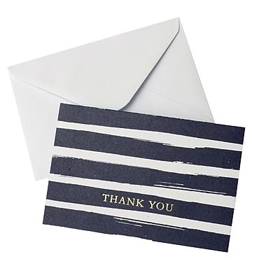Gartner Studios, Watercolor Stripe Navy Thank You, 10 Count, 4