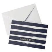 """Gartner Studios, Watercolor Stripe Navy Thank You, 10 Count, 4"""" x 6"""", (83768)"""