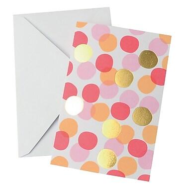 Gartner Studios, Blank Note Gold Foil Dot, 10 Count, 4