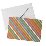 "Gartner Studios, Blank Note Kraft and Stripe, 10 Count, 4 ""x 6"", (83764)"