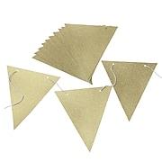 """Gartner Studios, Gold Glitter Banner Kit, 76"""", (18557)"""