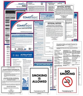 ComplyRight Federal (Bilingual), State & Public Sector (English) Poster Set - Alabama