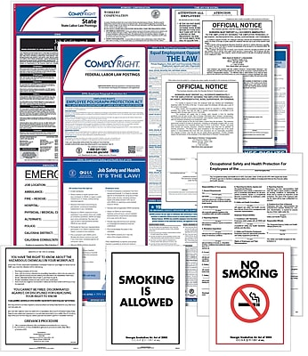 ComplyRight Federal, State & Public Sector (English) Poster Set - South Carolina