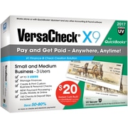VersaCheck® X9 2017 for QuickBooks (3 User) [Boxed]