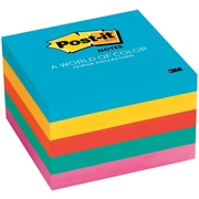 "Post-it® Notes, 3"" x 3"", Jaipur Collection, 5 Pads/Pack (654-5UC)"