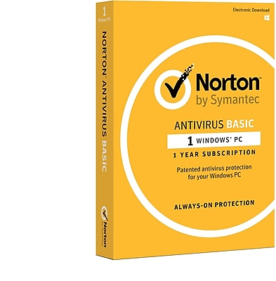 Norton AntiVirus Basic for Windows (1 User) [Product Key Card]