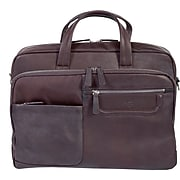 Scully® Genuine Leather & Nylon Workbag, Brown