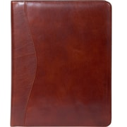 Scully® Genuine Italian Leather Letter Size Padfolio, Cognac Brown