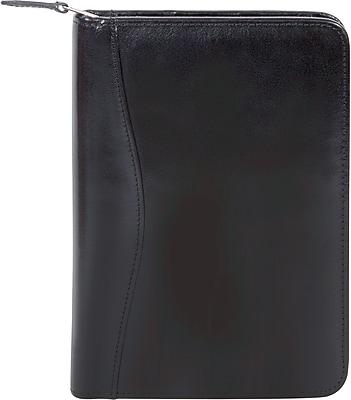 Scully® Genuine Italian Leather Junior Zip Padfolio, Black