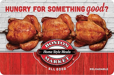 Boston Market Gift Card $100 (Email Delivery)
