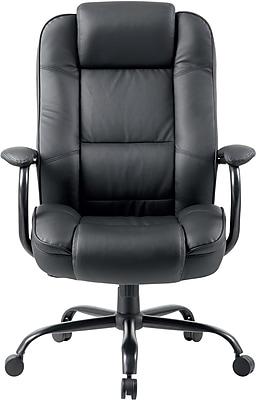 Boss Black Leather Heavy Duty Executive Chair (B992BK)