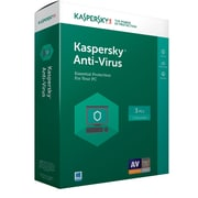 Kaspersky Anti-Virus 1-3 Licenses for Windows Product Key Card (8129869)