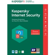 Kaspersky Internet Security 2017 for Windows (1 Year) 1 User, Download (PMVD46FKFY789EB)