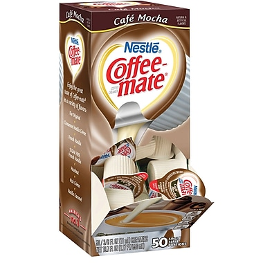 Nestlé® Coffee-mate® Coffee Creamer, Café Mocha, .375oz liquid creamer singles, 50 count