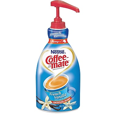 Nestlé® Coffee-mate® Coffee Creamer, French Vanilla, 1.5L liquid pump bottle, 1 bottle