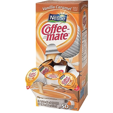 Nestlé® Coffee-mate® Coffee Creamer, Vanilla Caramel, .375oz liquid creamer singles, 50 count